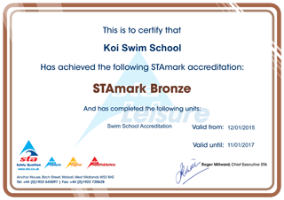 STAmark bronze accreditation